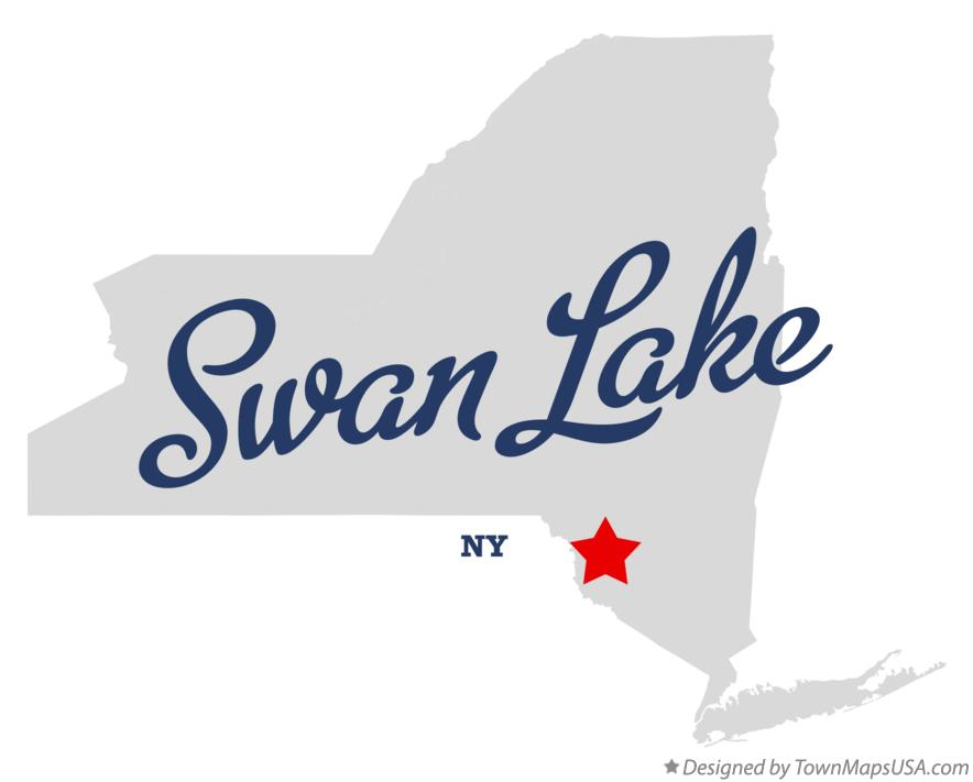 Map of Swan Lake New York NY