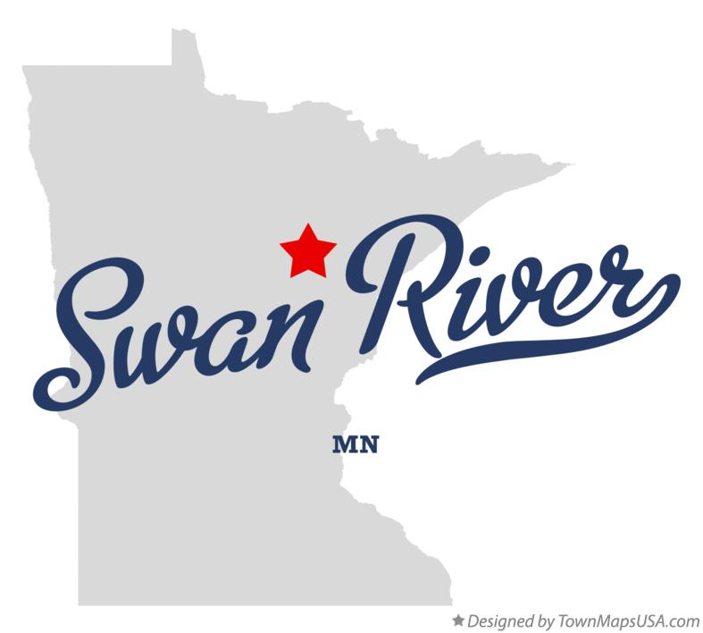 Map of Swan River Minnesota MN