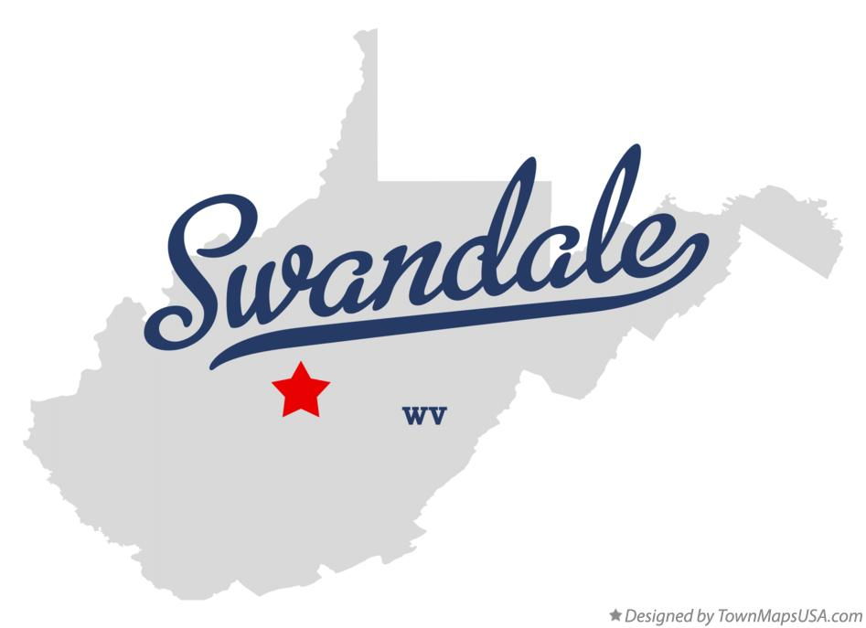 Map of Swandale West Virginia WV