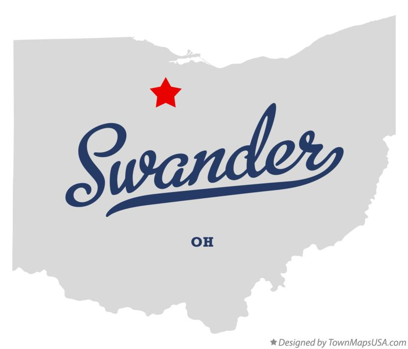 Map of Swander Ohio OH