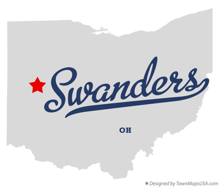 Map of Swanders Ohio OH