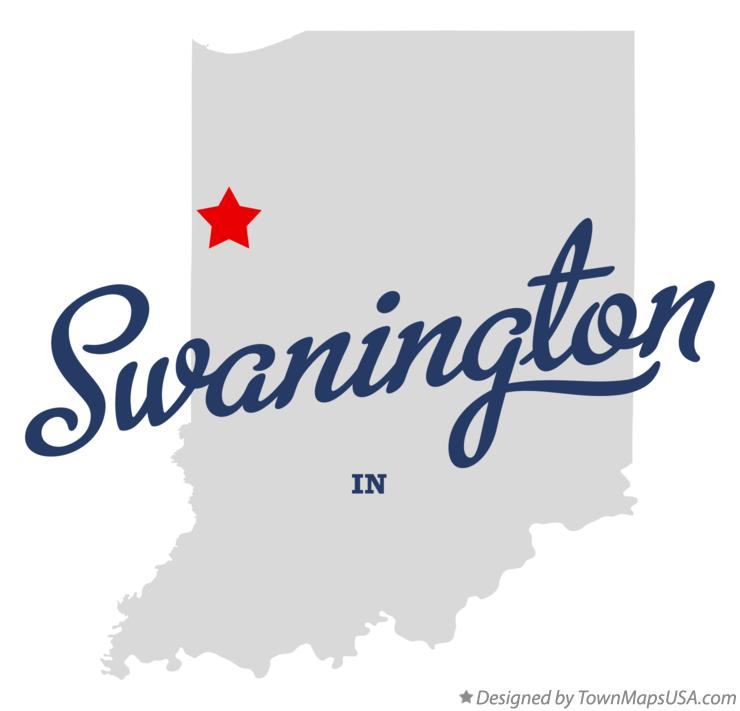 Map of Swanington Indiana IN