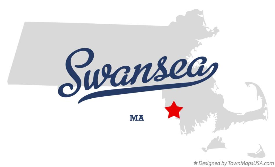 Map of Swansea Massachusetts MA
