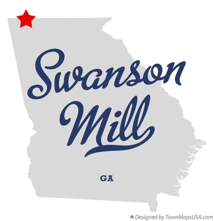 Map of Swanson Mill Georgia GA
