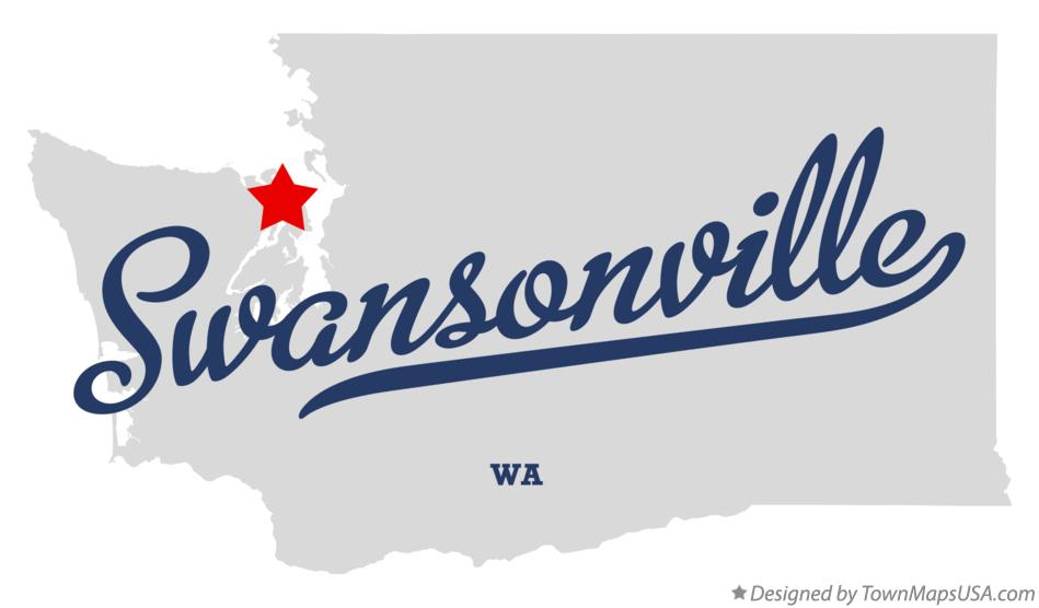 Map of Swansonville Washington WA