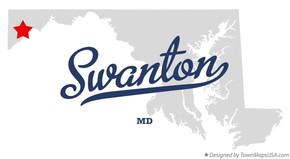 Map of Swanton Maryland MD