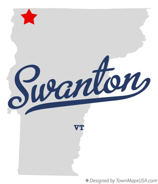 Map of Swanton Vermont VT
