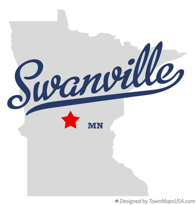 Map of Swanville Minnesota MN