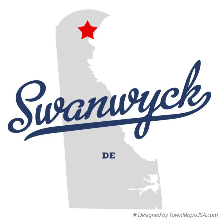 Map of Swanwyck Delaware DE