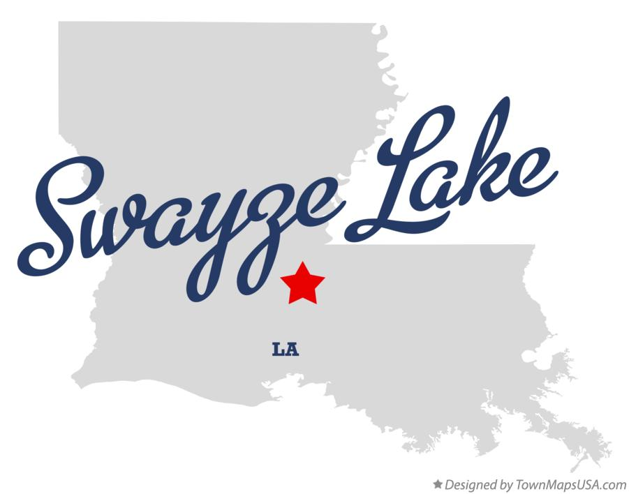 Map of Swayze Lake Louisiana LA