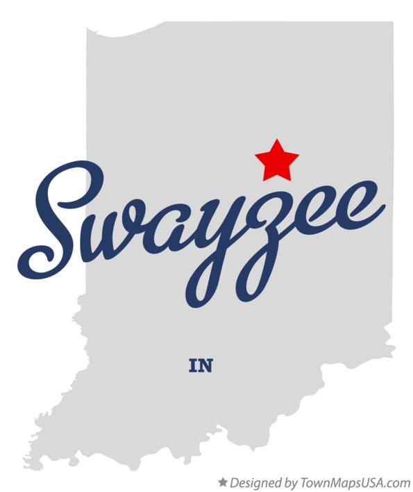 Map of Swayzee Indiana IN