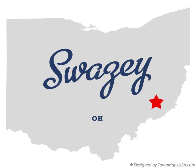 Map of Swazey Ohio OH