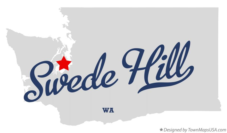Map of Swede Hill Washington WA