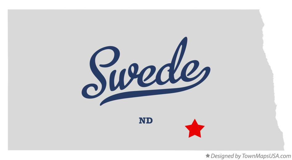 Map of Swede North Dakota ND