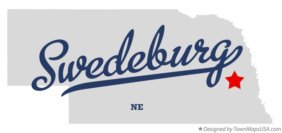 Map of Swedeburg Nebraska NE