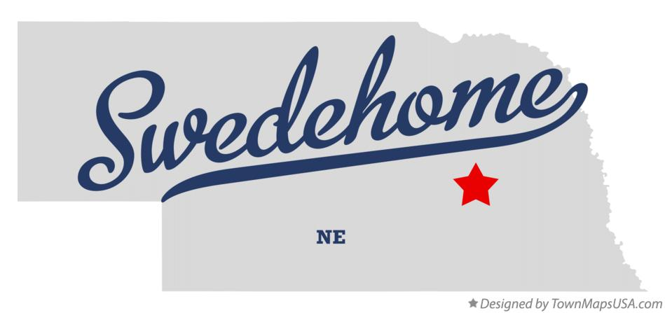Map of Swedehome Nebraska NE