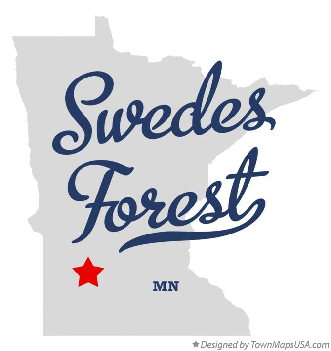 Map of Swedes Forest Minnesota MN