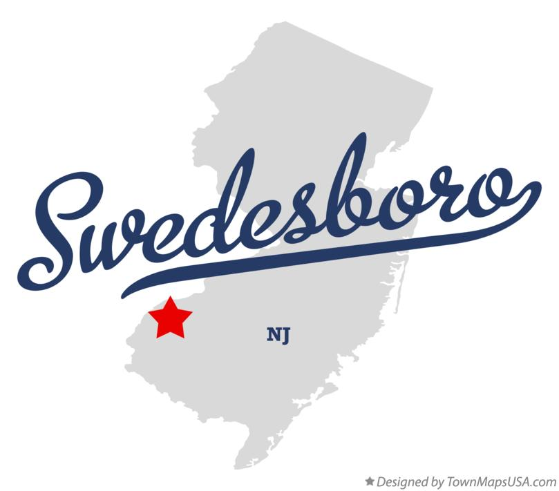 Map of Swedesboro New Jersey NJ