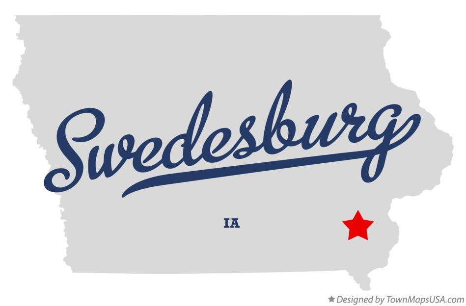 Map of Swedesburg Iowa IA