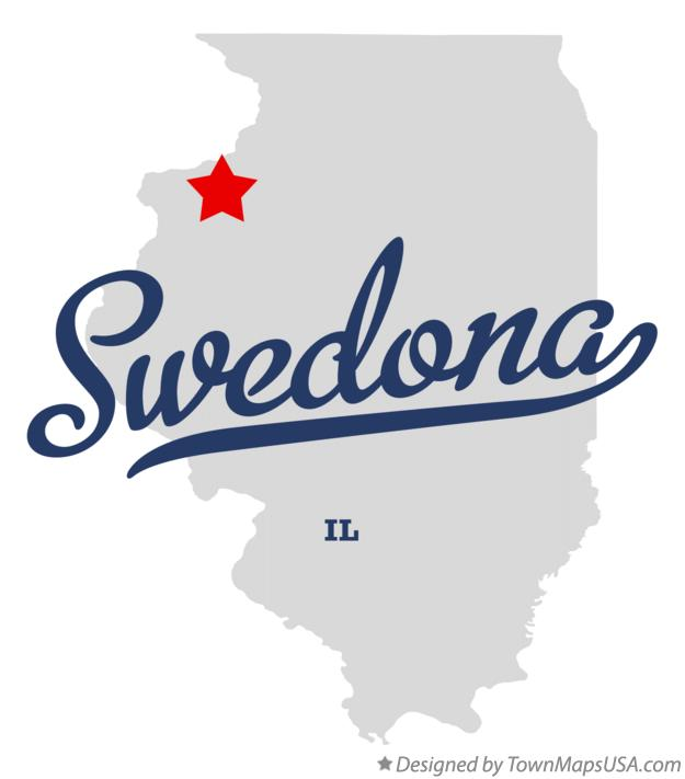 Map of Swedona Illinois IL