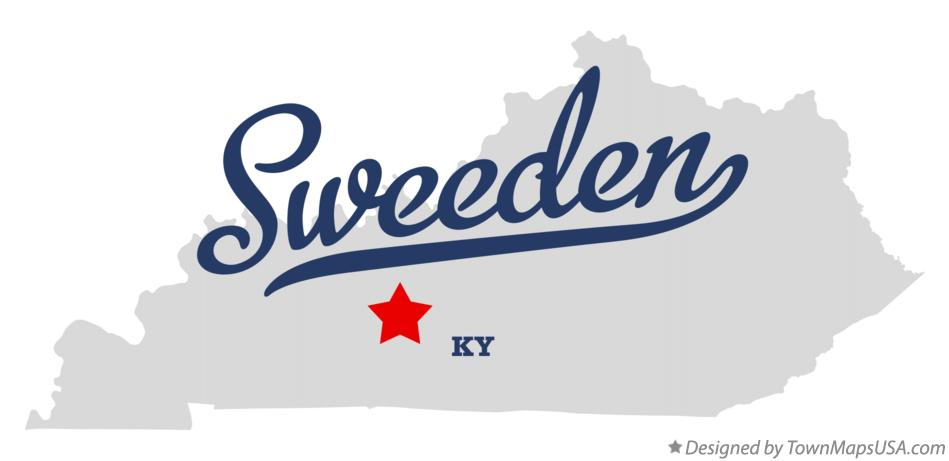 Map of Sweeden Kentucky KY