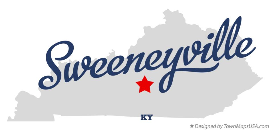 Map of Sweeneyville Kentucky KY