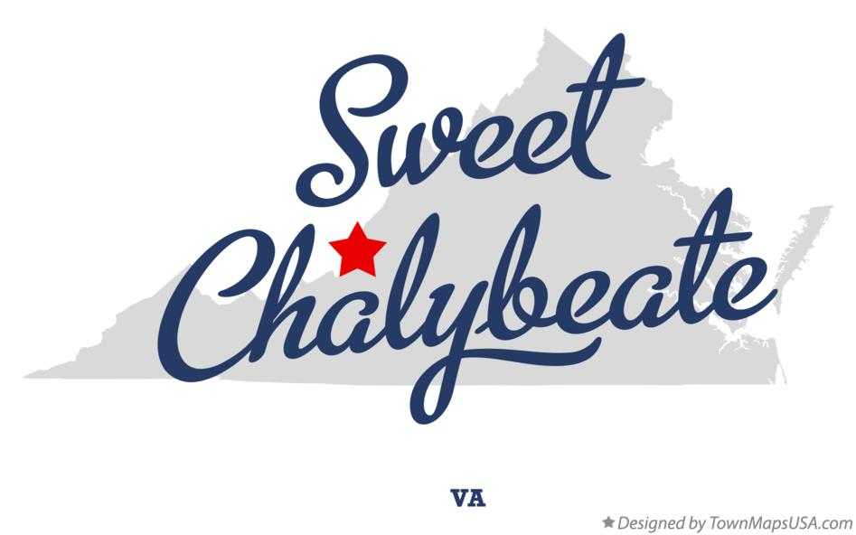 Map of Sweet Chalybeate Virginia VA