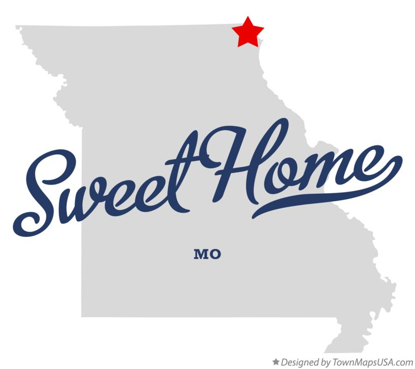 Map of Sweet Home Missouri MO