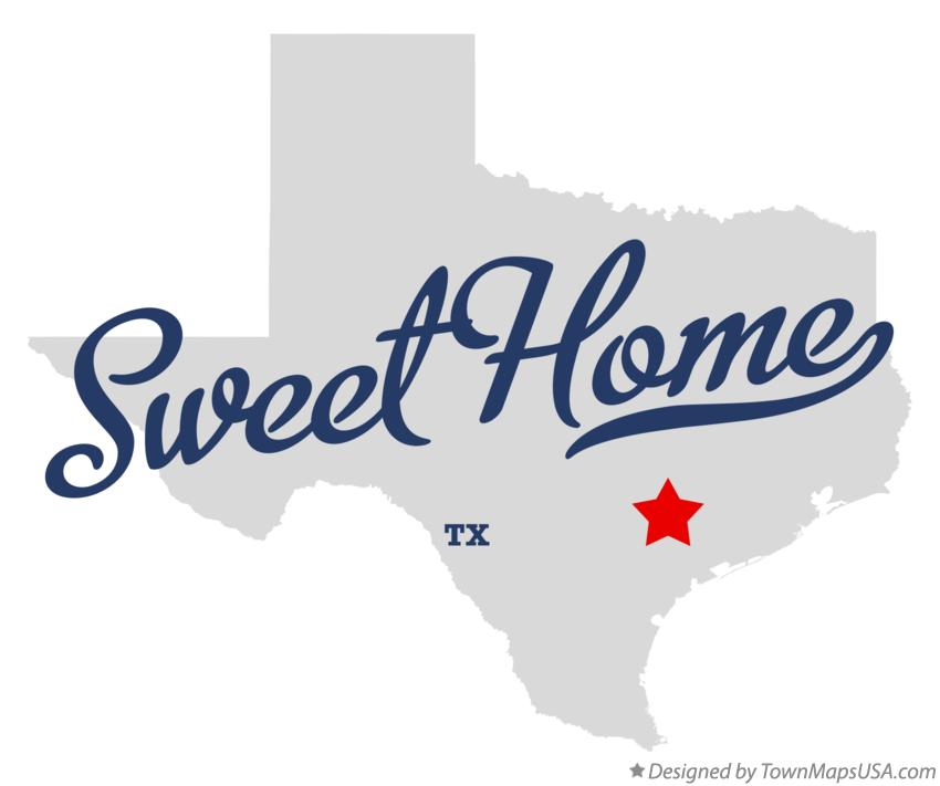 Map of Sweet Home Texas TX