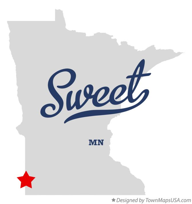 Map of Sweet Minnesota MN