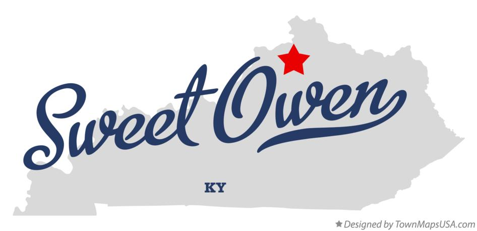 Map of Sweet Owen Kentucky KY