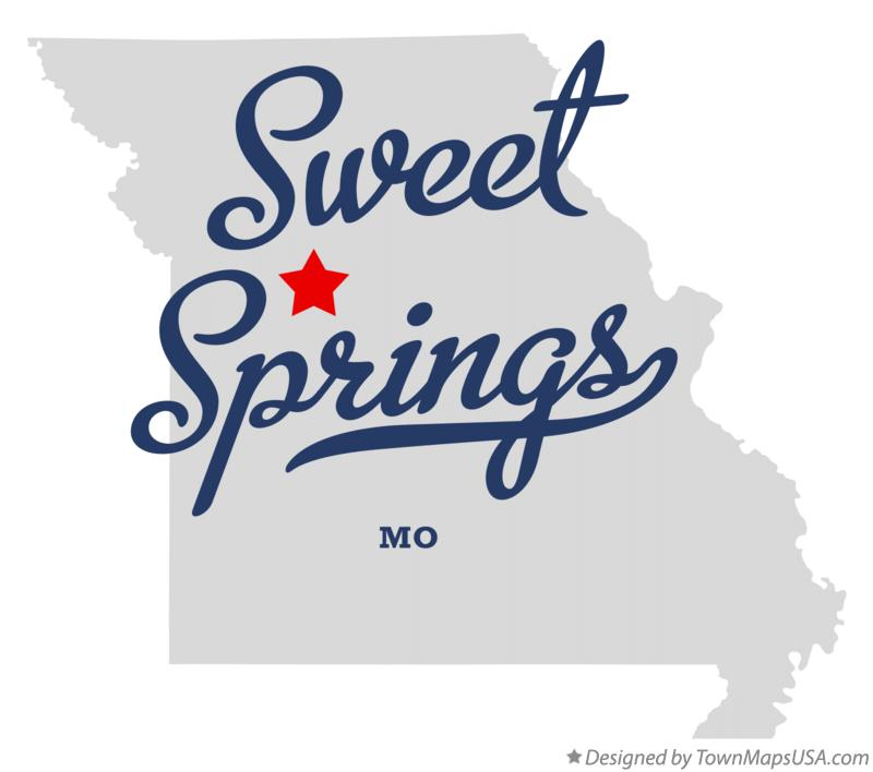 Map of Sweet Springs Missouri MO