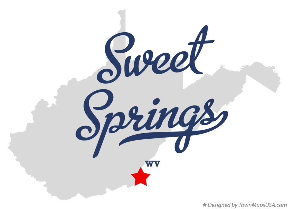 Map of Sweet Springs West Virginia WV