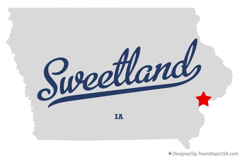 Map of Sweetland Iowa IA