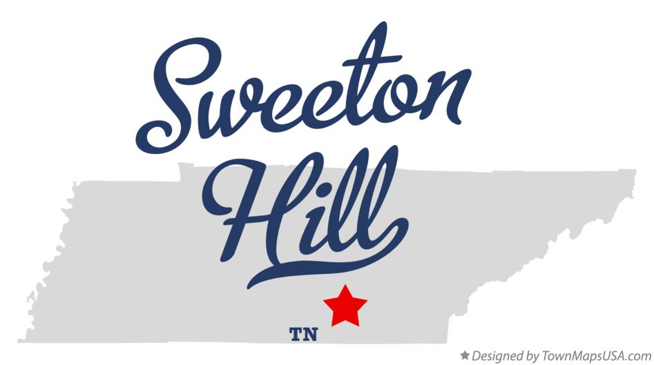 Map of Sweeton Hill Tennessee TN