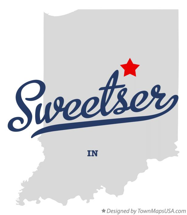 Map of Sweetser Indiana IN