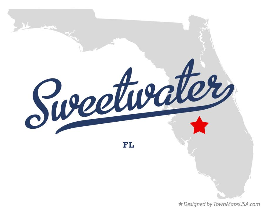 Map of Sweetwater Florida FL