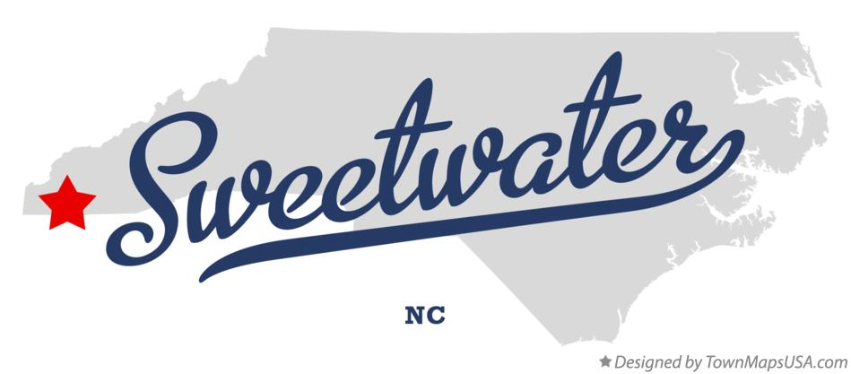 Map of Sweetwater North Carolina NC