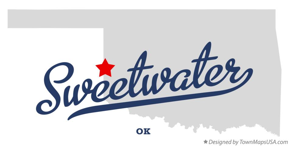 Map of Sweetwater Oklahoma OK