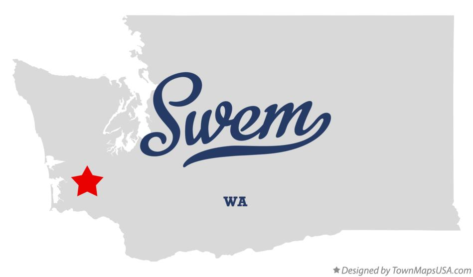 Map of Swem Washington WA