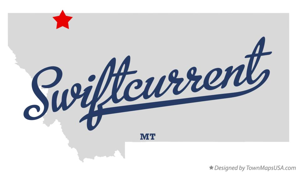 Map of Swiftcurrent Montana MT