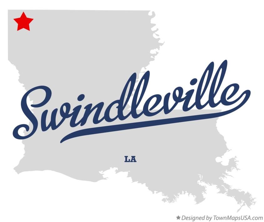 Map of Swindleville Louisiana LA