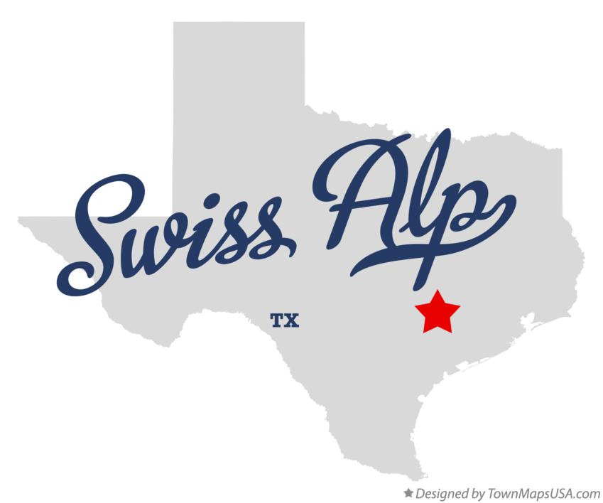 Map of Swiss Alp Texas TX