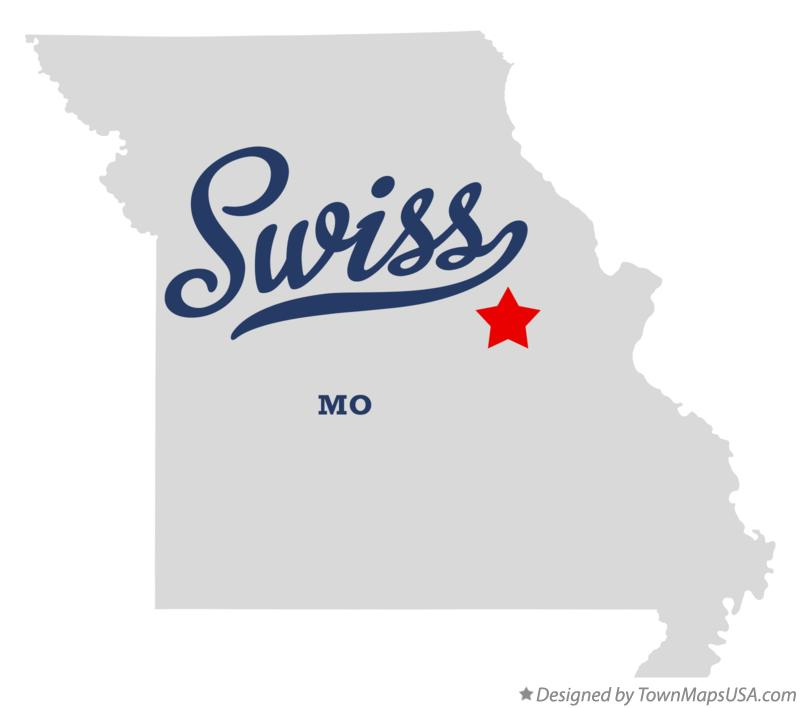 Map of Swiss Missouri MO