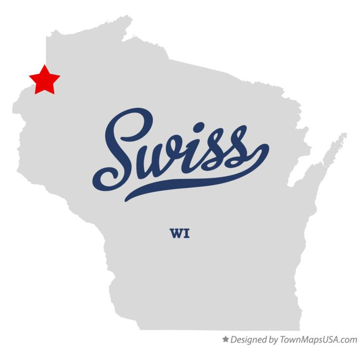 Map of Swiss Wisconsin WI