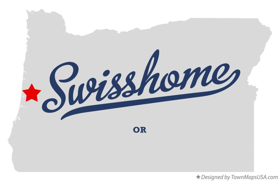 Map of Swisshome Oregon OR