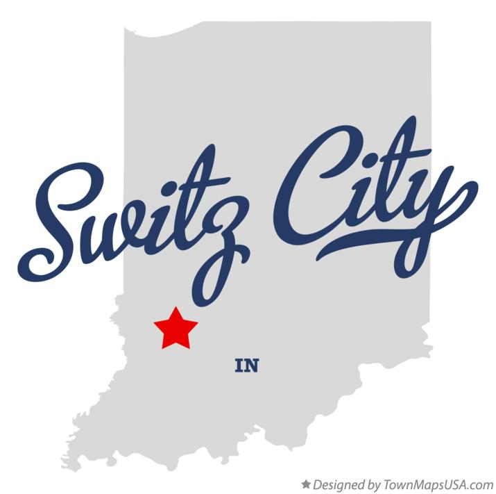 Map of Switz City Indiana IN