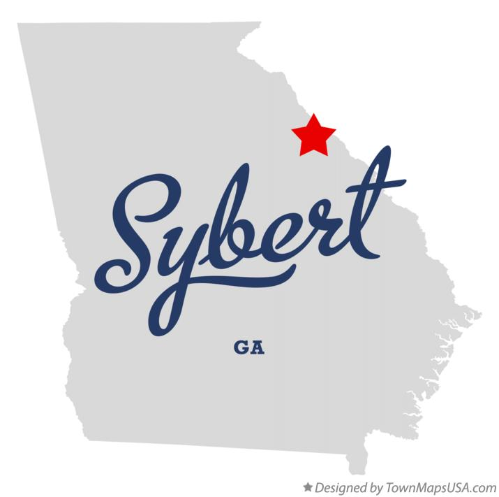 Map of Sybert Georgia GA