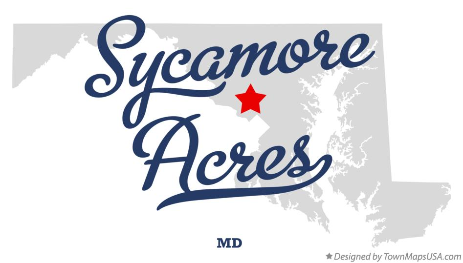 Map of Sycamore Acres Maryland MD
