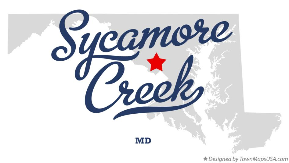Map of Sycamore Creek Maryland MD